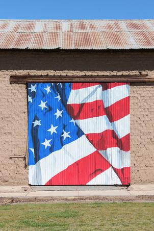 mural, barn, art, flag, mural, mesilla, new mexico, patriotic, bob diven