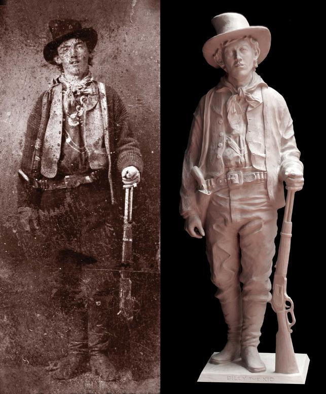 billy the kid, sculpture, old west, lincoln county war, william bonney, kid antrim, bob diven, art, model, western art, bronze, limited edition